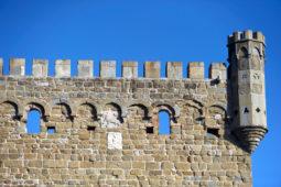 Monterone Castle - Merlons' detail