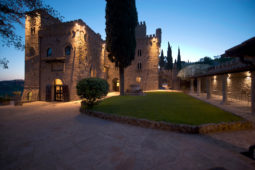 Monterone Castle- Cloister in the evening