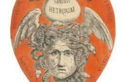 Sanguis Etruriae: etichetta del vino prodotto sui terreni del Castello di Monterone